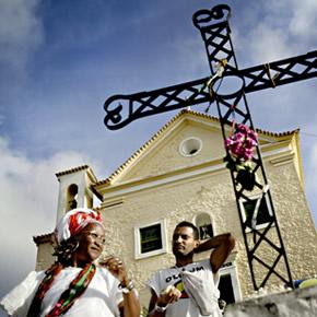 Salvador de Bahia est une ville très fervente. La particularité est le candomblé pour lequel on dénombre 2500 terreiros (temples).