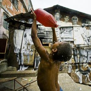 Vie de la favele Morro da Providencia à Rio de Janeiro.